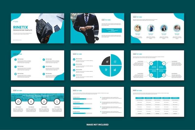 Biznesowy projekt szablonu prezentacji powerpoint