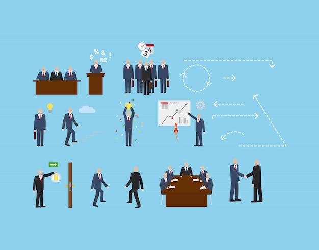 Biznesowy set dla infographic projekta