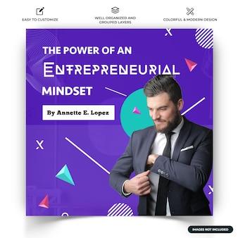Biznesowy szablon banera internetowego na instagram wektor