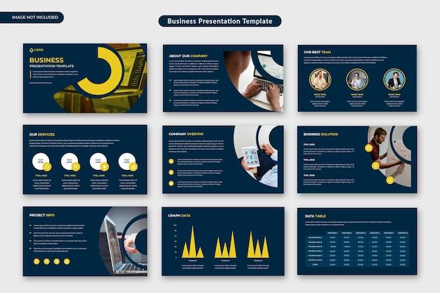 Biznesowy szablon prezentacji korporacyjnej lub propozycja biznesowa