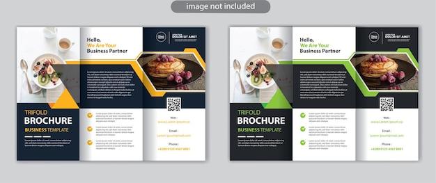 Biznesowy szablon projektu broszury trójdzielnej