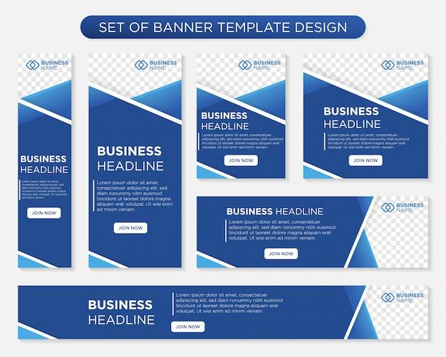 Biznesowy szablonu sztandaru projekt