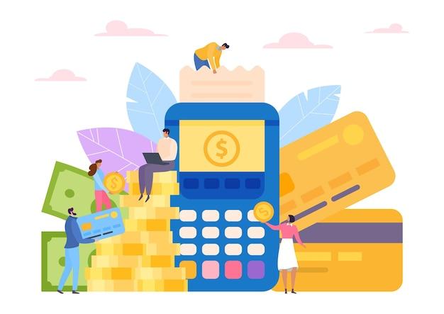 Biznesowy terminal finansowy za pomocą karty