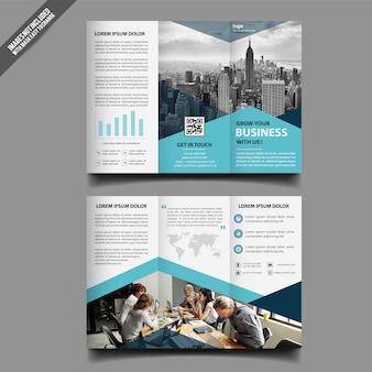 Biznesowy trifold broszurka szablonu projekt