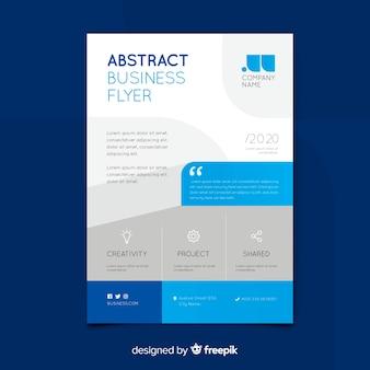 Biznesowy ulotka szablon z abstrakcjonistycznymi kształtami