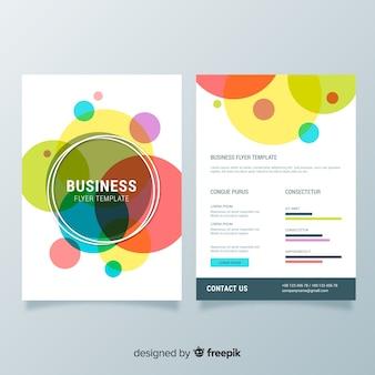 Biznesowy ulotka szablon z kolorowym stylem