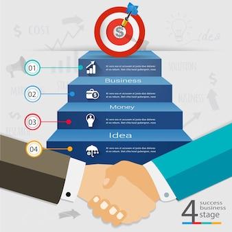 Biznesowy uścisk dłoni to udział w sukcesie.