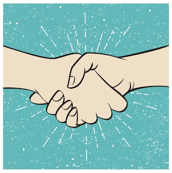 Biznesowy uścisk dłoni