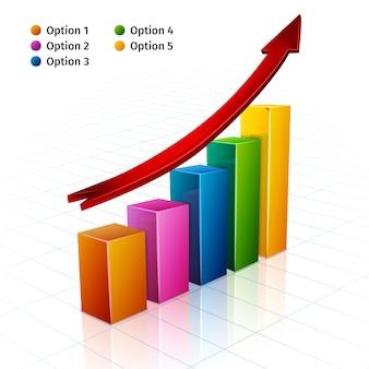 Biznesowy wykres 3d