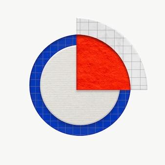 Biznesowy wykres kołowy kolorowa grafika dla marketingu