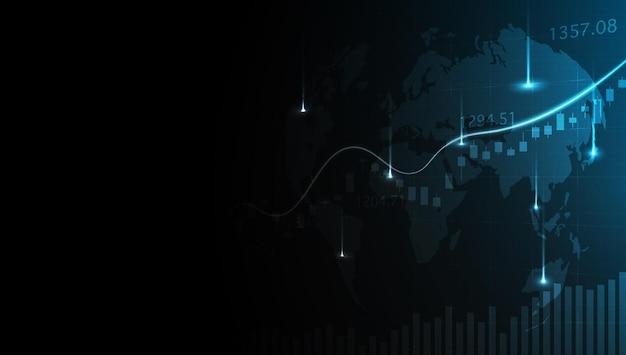 Biznesowy wykres wykresu świecowego analiza dużych danych wizualizacja informacje o danych graficzny punkt zwyżkowy