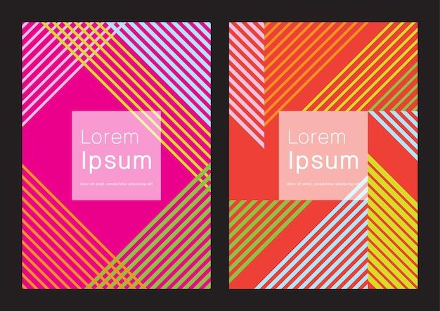 Biznesowy zestaw z nowoczesnymi liniami graficznymi w neonowych kolorach
