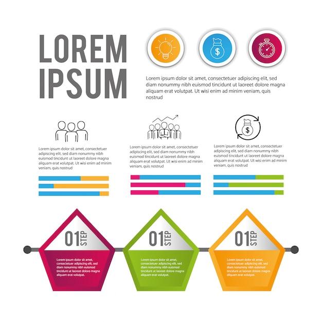 Biznesowych infographic dane diagrama informacja