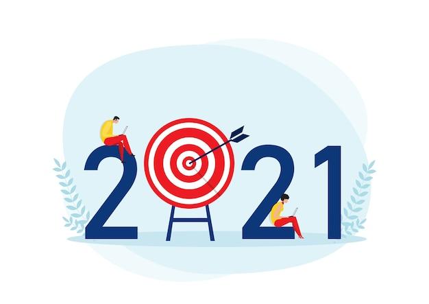Biznesplan 2021 i osiągnięcie celu koncepcja