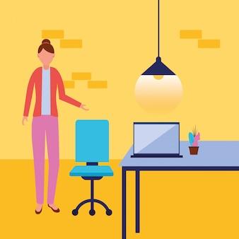 Bizneswoman awatar kreskówka