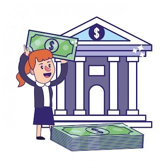 Bizneswoman bankowości planowania finansowego