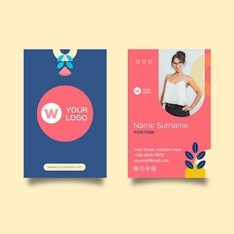 Bizneswoman dwustronna wizytówka