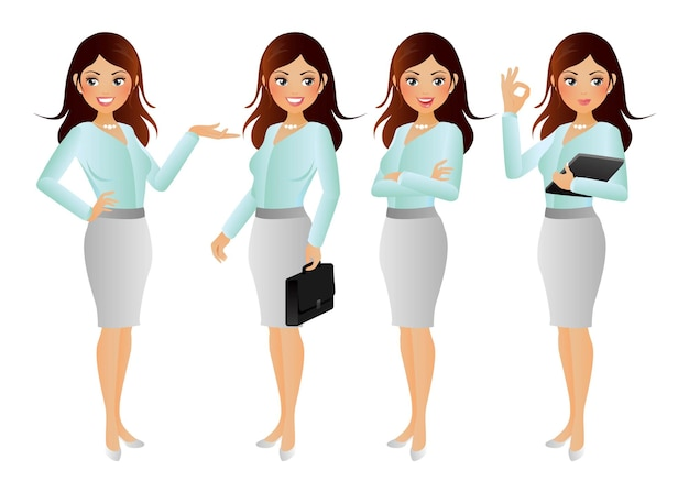 Bizneswoman eleganckich ludzi