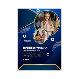 Bizneswoman pionowy plakat szablon