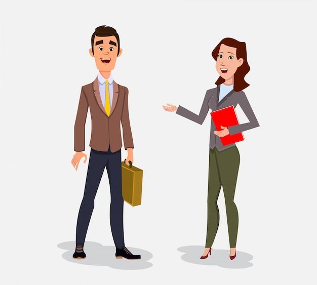 Bizneswoman pozycja z jego sekretarką.