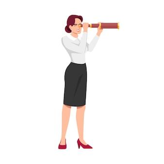 Bizneswoman szuka nowych sposobności ilustracyjnych