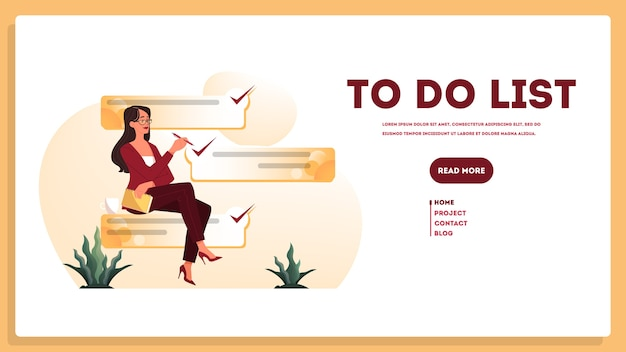 Bizneswoman z długą listą rzeczy do zrobienia. dokument dużego zadania.