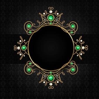 Biżuteria czarna rama