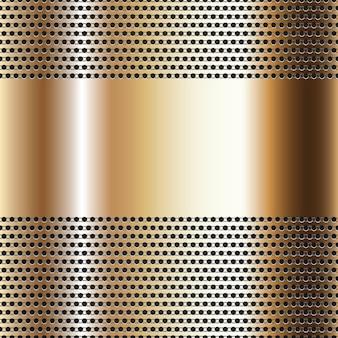Blacha perforowana na złotym tle