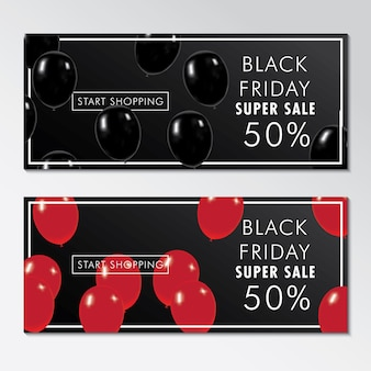 Black friday super coupon z rabatem i balonami