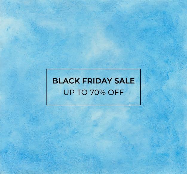 Blackfriday sprzedaż tło akwarela