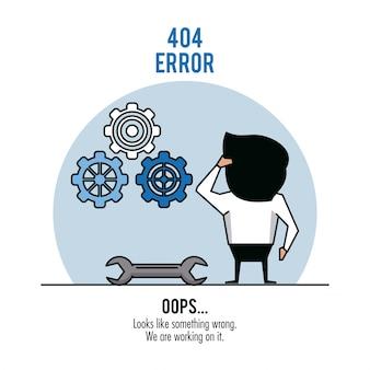 Błąd 404 infografika na białym tle