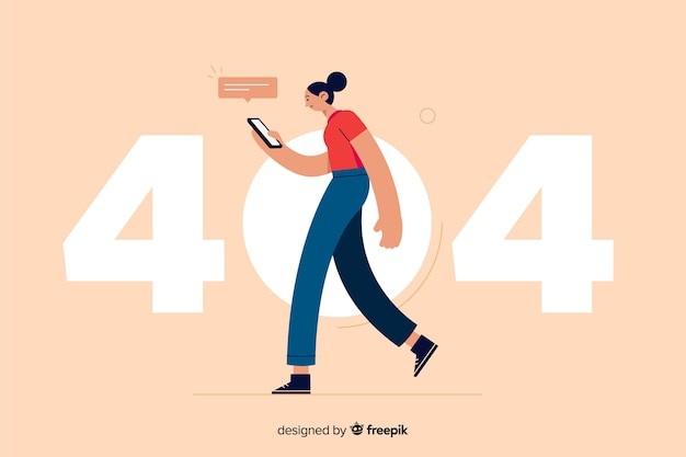 Błąd 404 koncepcja strony docelowej