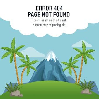Błąd 404 motyw wulkanu