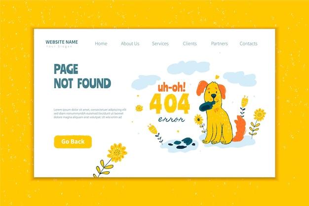 Błąd 404 na stronie docelowej koncepcji