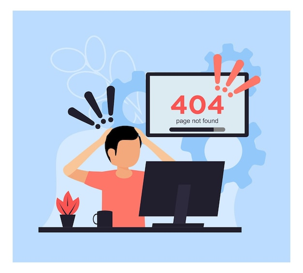 Błąd 404 nie znaleziono koncepcji strony