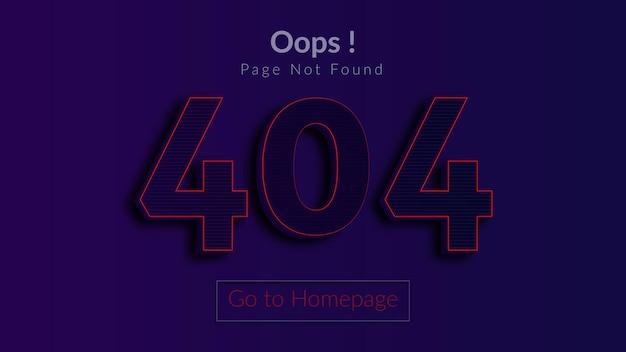 Błąd 404 strona nie została znaleziona brak koncepcji strony internetowej