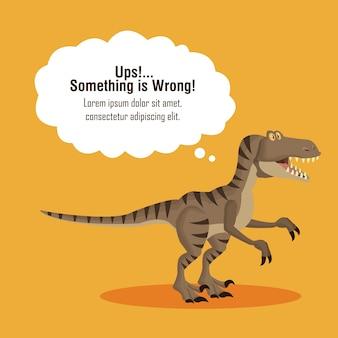Błąd 404 Temat Dinozaura Premium Wektorów