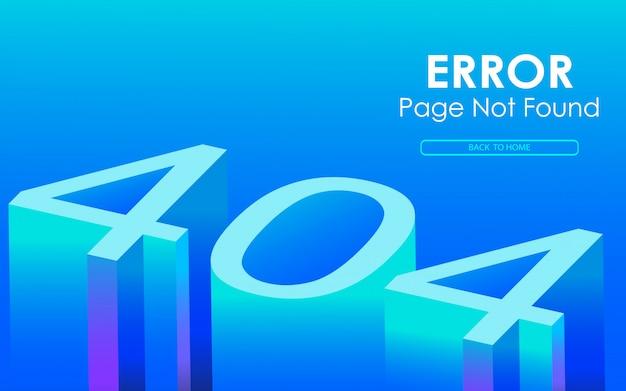 Błąd 404 wektor w stylu 3d