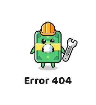 Błąd 404 z maskotką ładnych pieniędzy, ładnym stylem na koszulkę, naklejkę, element logo