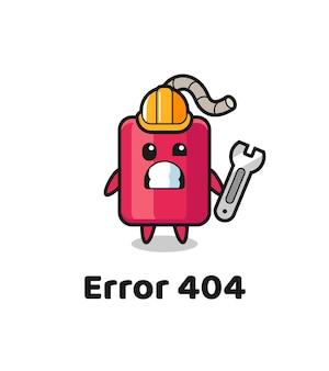 Błąd 404 z uroczą maskotką dynamitu, ładny styl na koszulkę, naklejkę, element logo