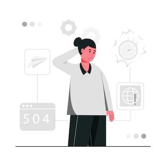 Błąd ilustracji koncepcji bramy połączenia internetowego