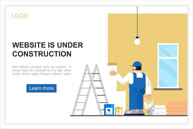 Błąd połączenia web wektor szablon strony docelowej