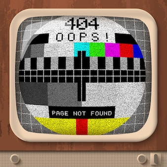 Błąd sygnału tv retro
