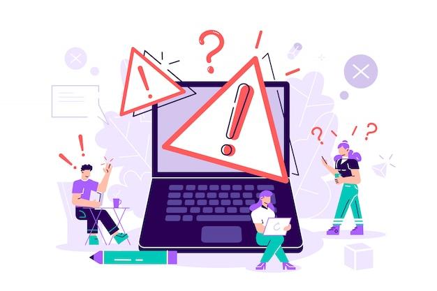 Błąd systemu operacyjnego. ilustracja strony błędu 404