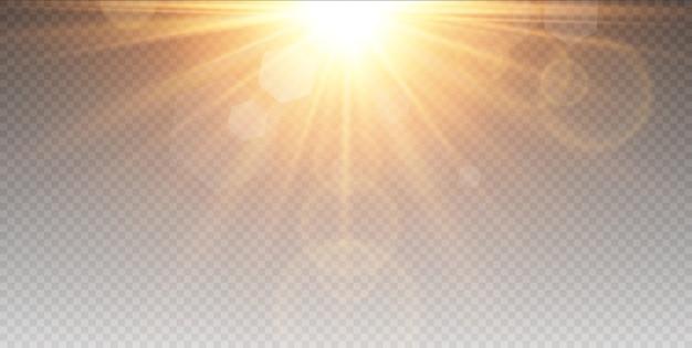 Blask izolowany efekt świetlny, flara obiektywu.
