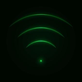 Blask neon znak wifi.