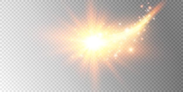 Blask słońca z efektem świetlnym