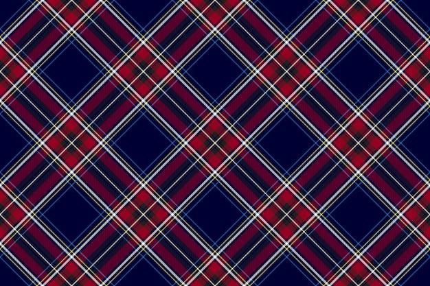 Błękitna czerwona diagonalna czek tkaniny tekstury bezszwowy wzór
