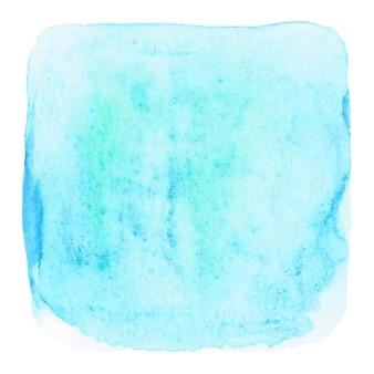 Błękitna grunge akwarela na białym tle