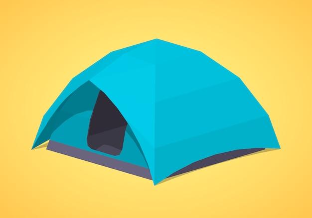 Błękitne namioty kempingowe